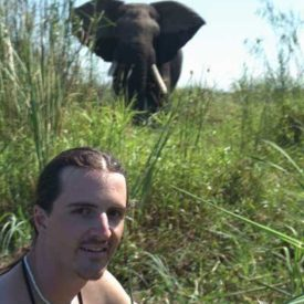 Ian and elephant