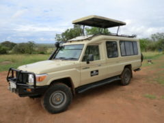 Closed 4x4 Safari Vehicle Tanzania 2