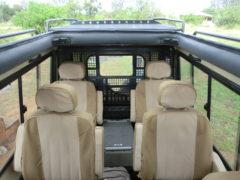 Interior of Closed 4x4 Safari Vehicle Tanzania 2
