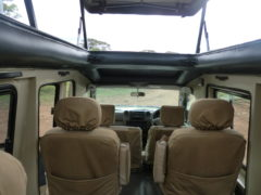Interior of Closed 4x4 Safari Vehicle Tanzania