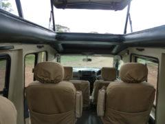 Interior of Closed 4x4 Safari Vehicle Tanzania