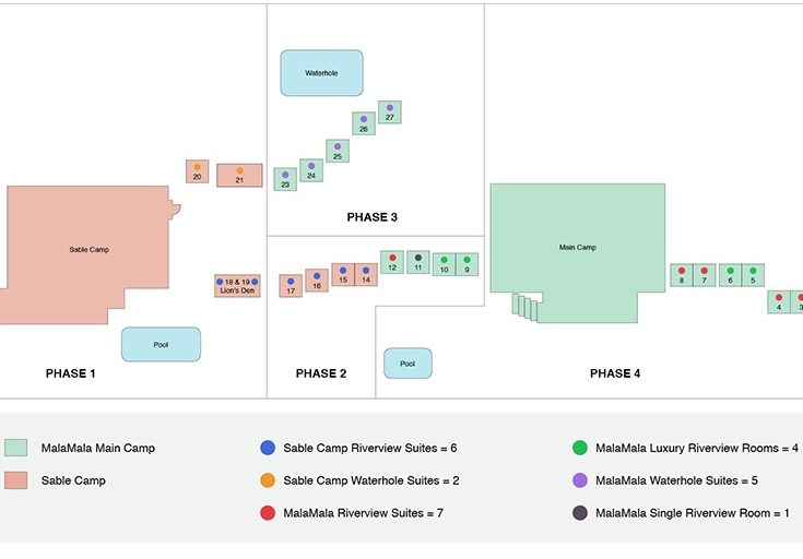 Mala Mala Main Camp Refurbishment Map