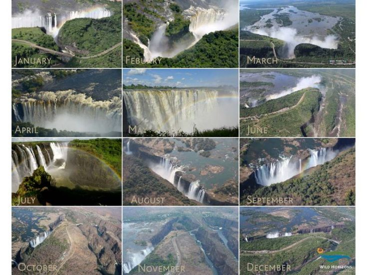 Victoria Falls Water Levels – Photos from Each Month